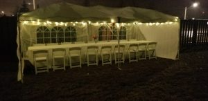 canopy and tent lighting rentals